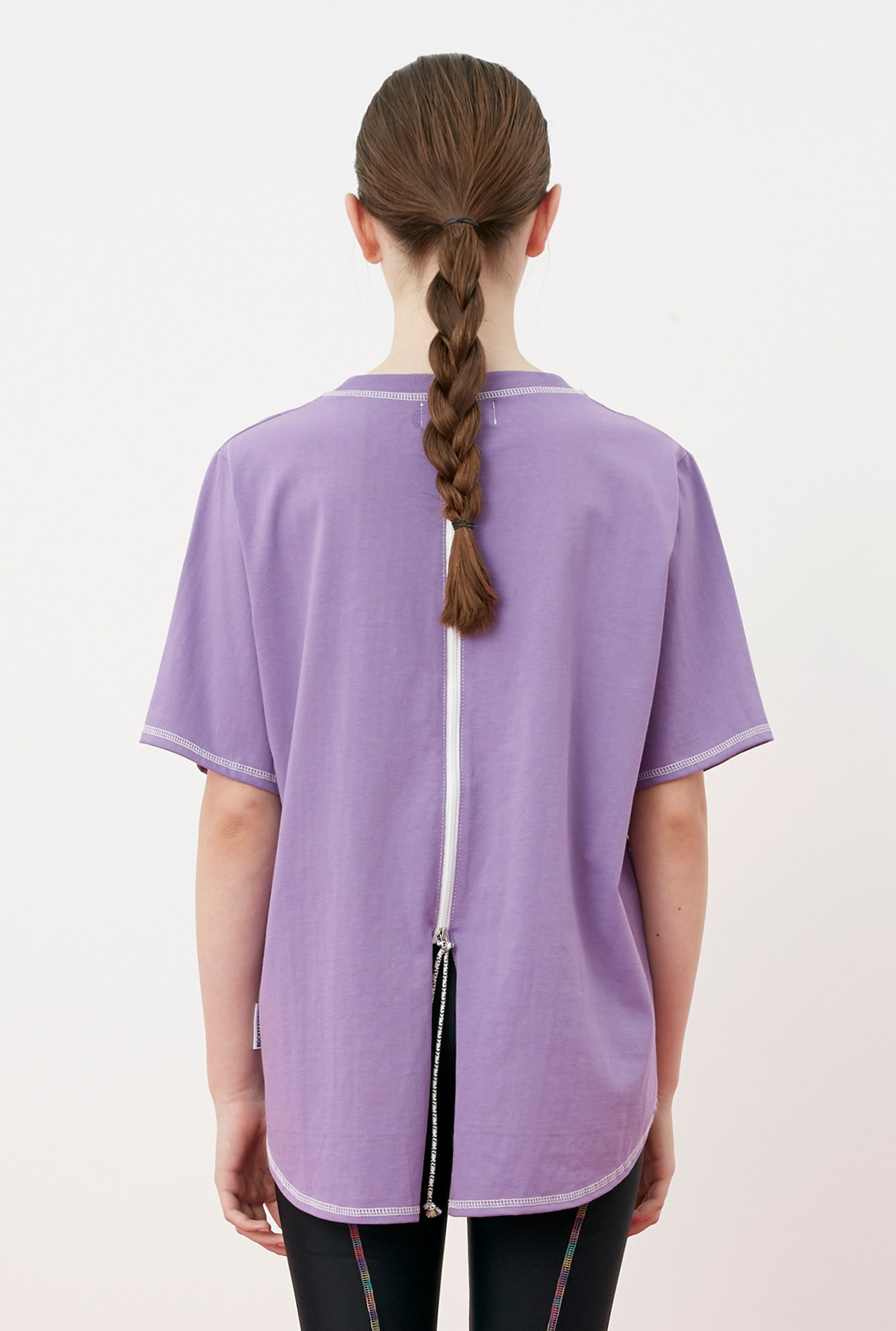 R BACK ZIPPER POINT T-SHIRT